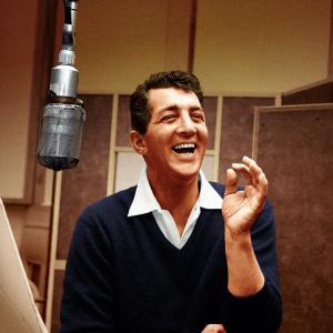 Dean Martin in the studio